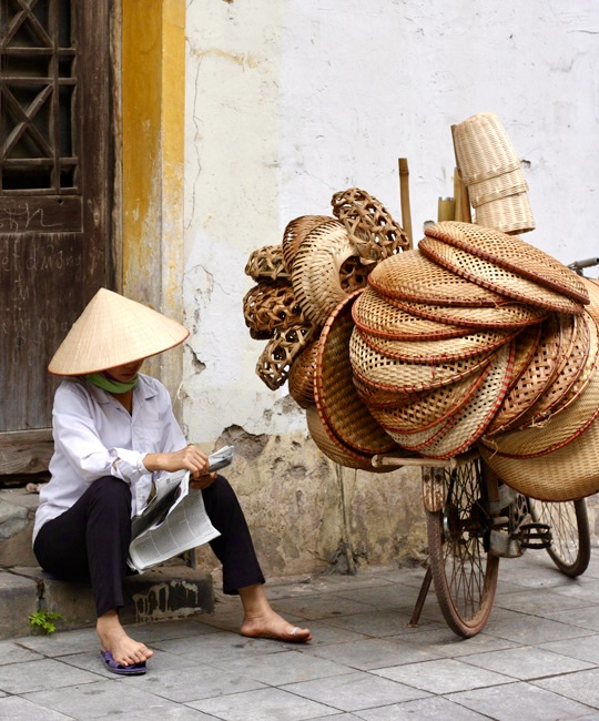 Hanoi Bamboo Basket Vendor