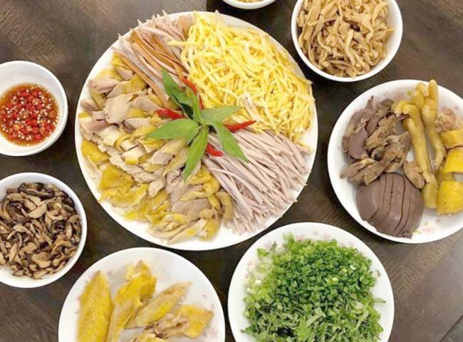 Ingredients to cook Bun Thang