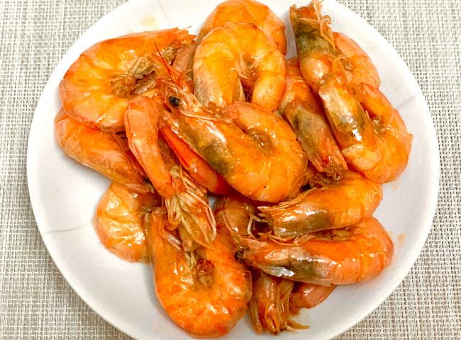 Shrimp with head on