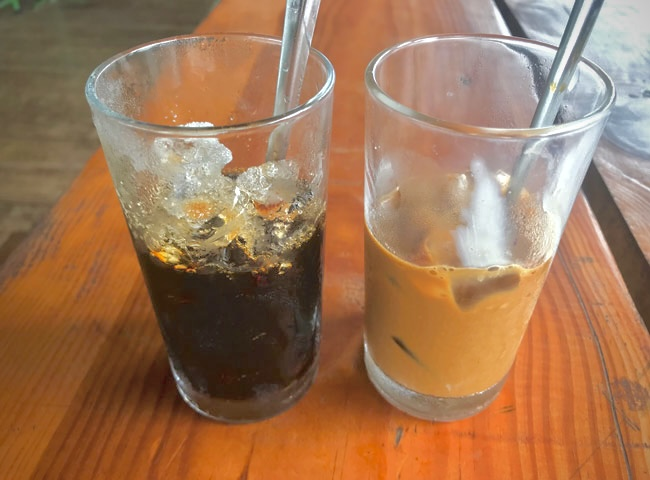 Brown Black Vietnamese Coffee